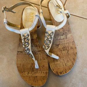 ANA White Heel Sandals